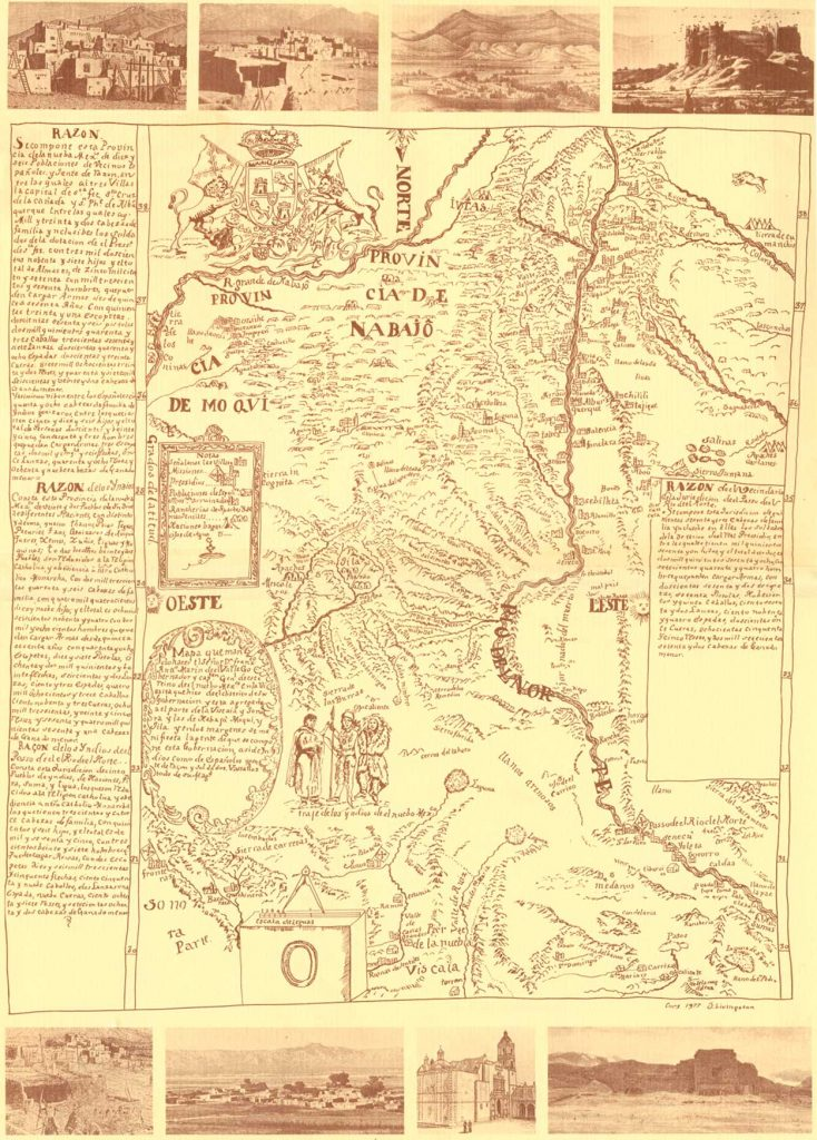 1758 Miera map of New Mexico
