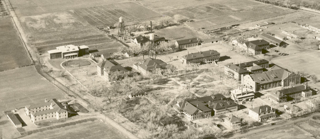 Aerial Photo of the Albuquerque Indian School in the 1930's.