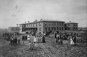 Albuquerque Indian School in 1885 (NRG-75-AISP-2)