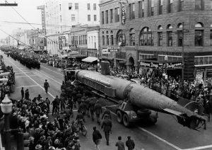 Photo of Captured Sub in Downtown Albuquerque