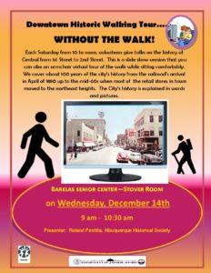 Flyer for Downtown Walking Tour Presentation