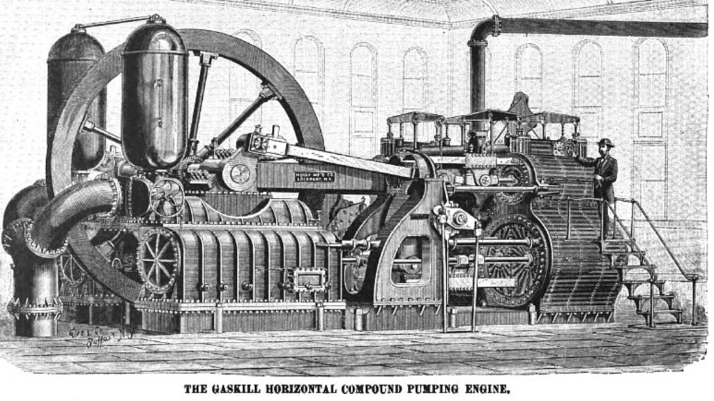 Drawing of Gaskill Pumping Engine